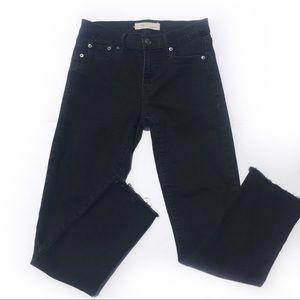 GAP Straight Stretch Open Hem Jeans